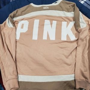 VS PINK lace up Crewneck Eguc no flaws size large